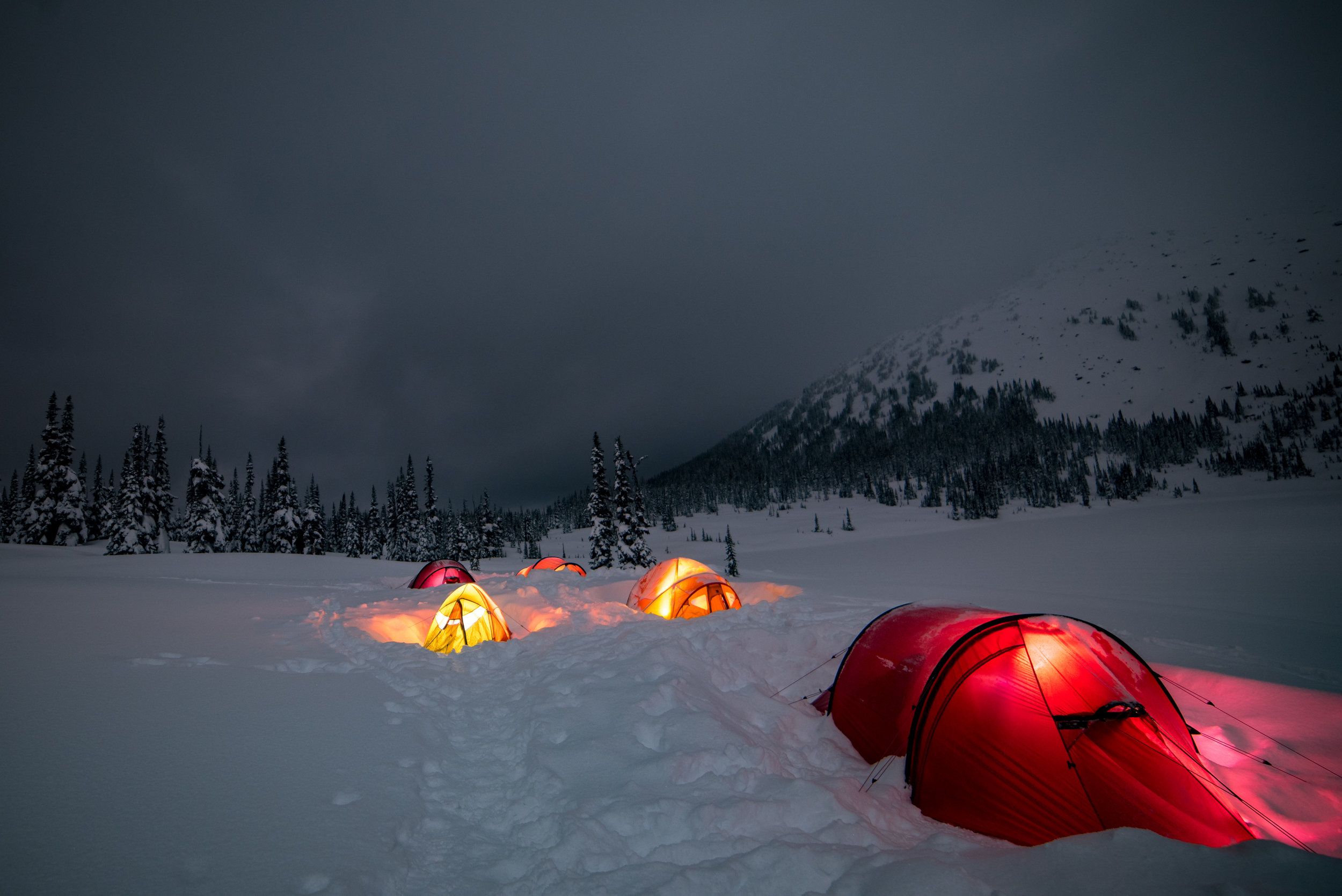 Everyone gone to bed ready to cozy into a warm sleeping bag. Photo Phil Tomlinson.
