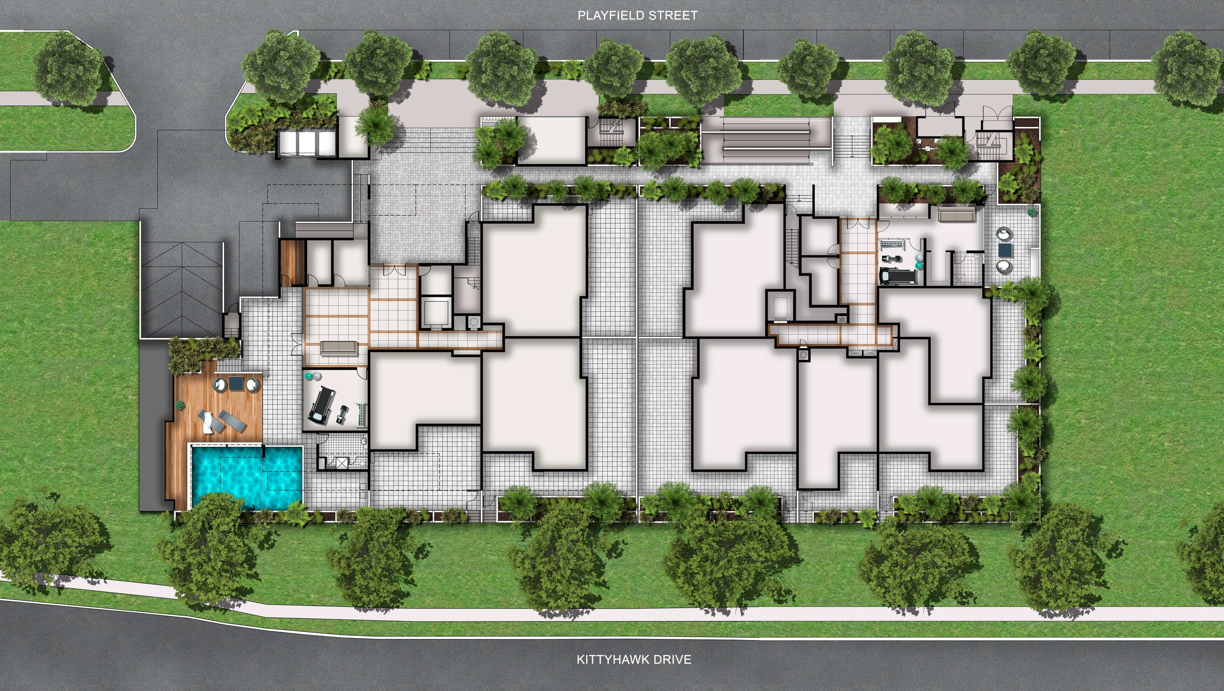 Oxford Apartments Site Plan