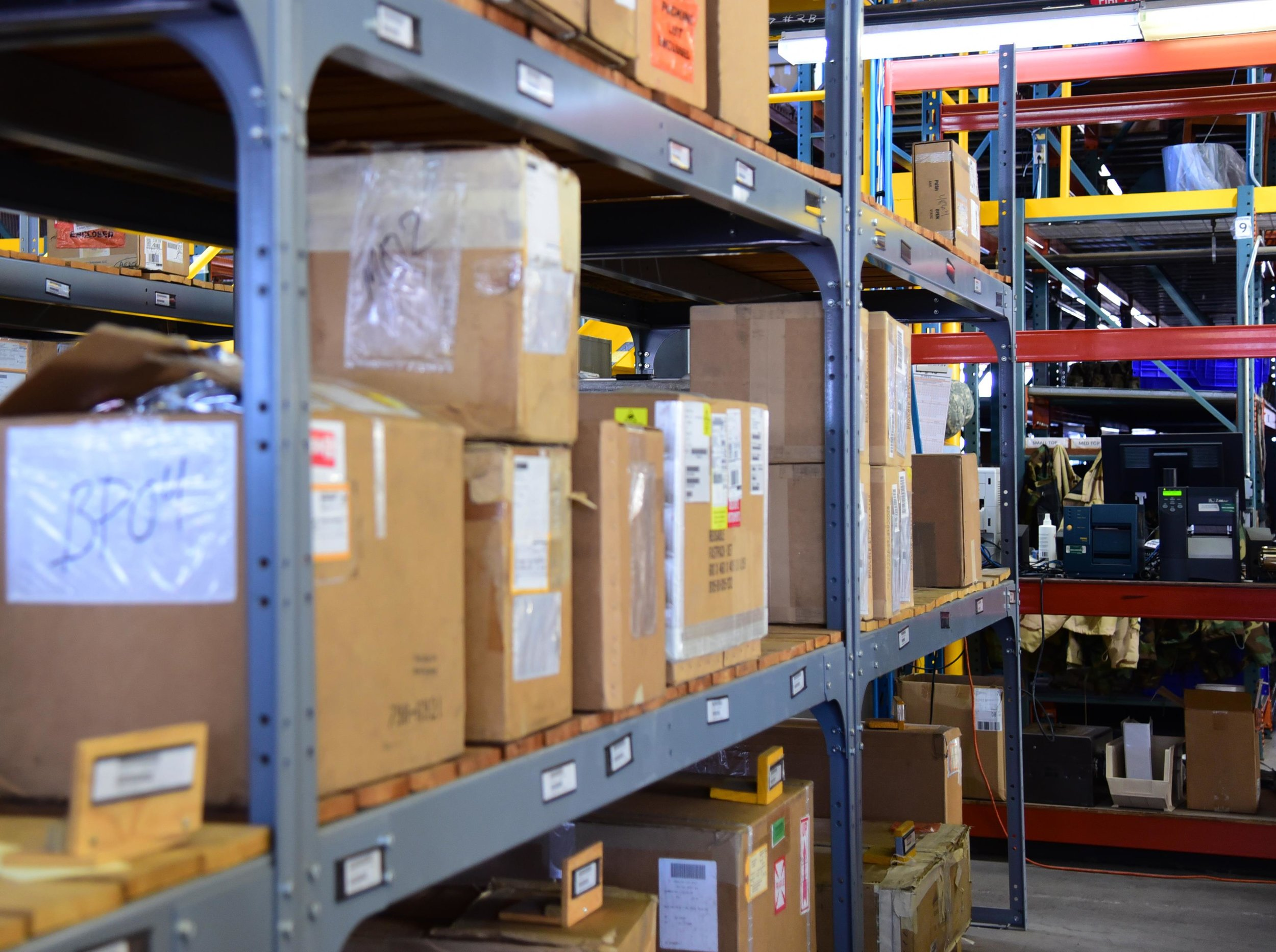 Dedicated rooms for quality control, product sorting, selection, and repacking