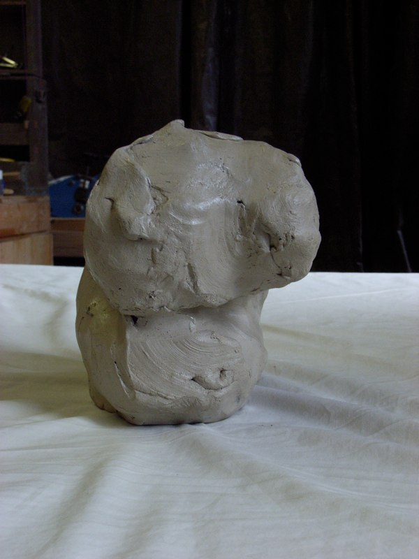 Original model in Clay, 2005  size 6 1/2 x 6 1/2 x 5 inches