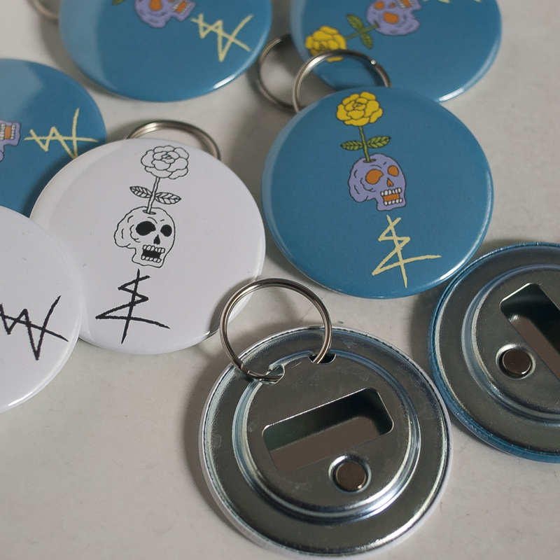 ghastlycastle x bums (bottle openers)
