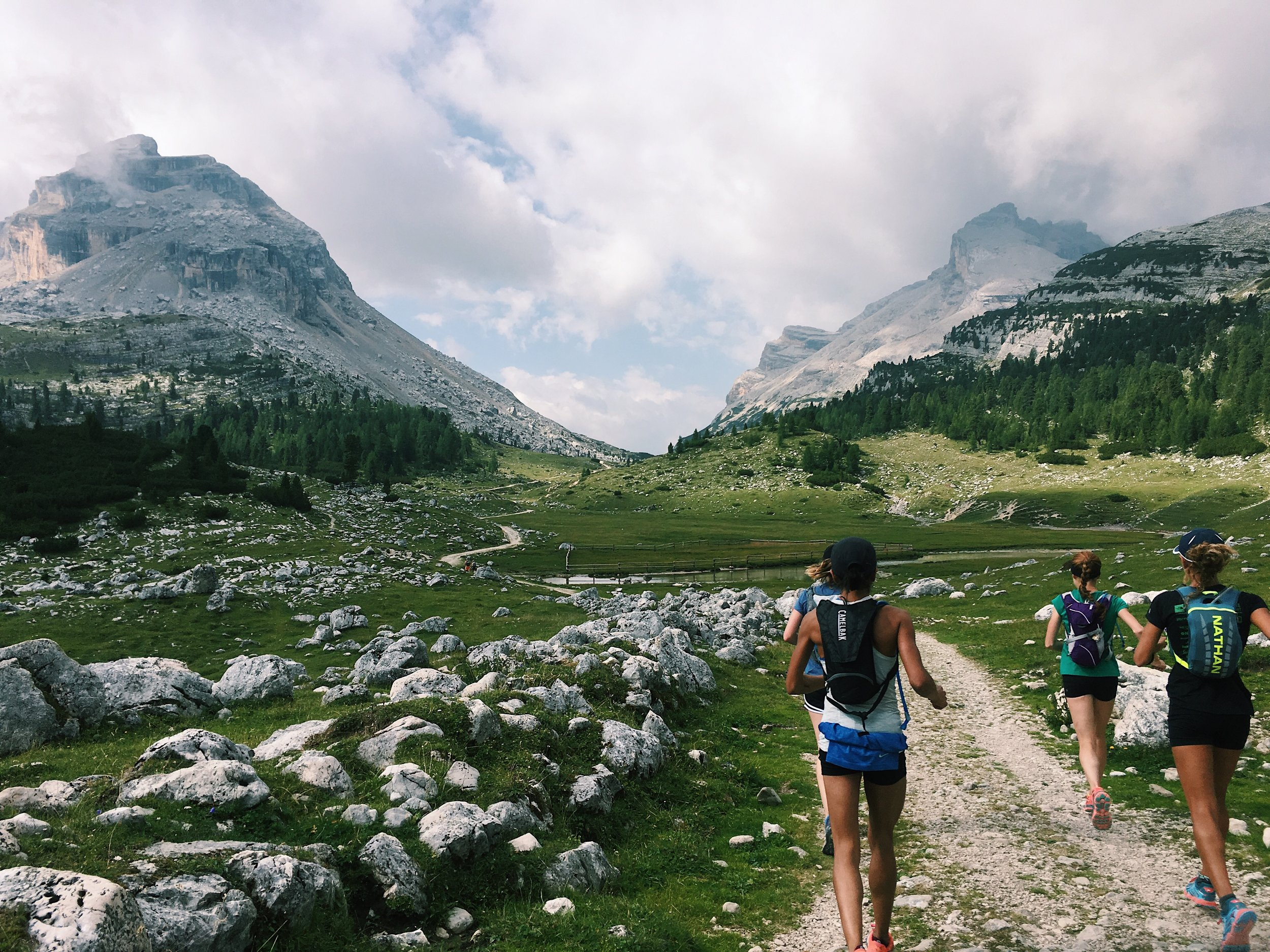 Dolomites Trail Running Alta Via 1 Hut to Hut RIfugio Fanes to Rifugio Lagazuoi
