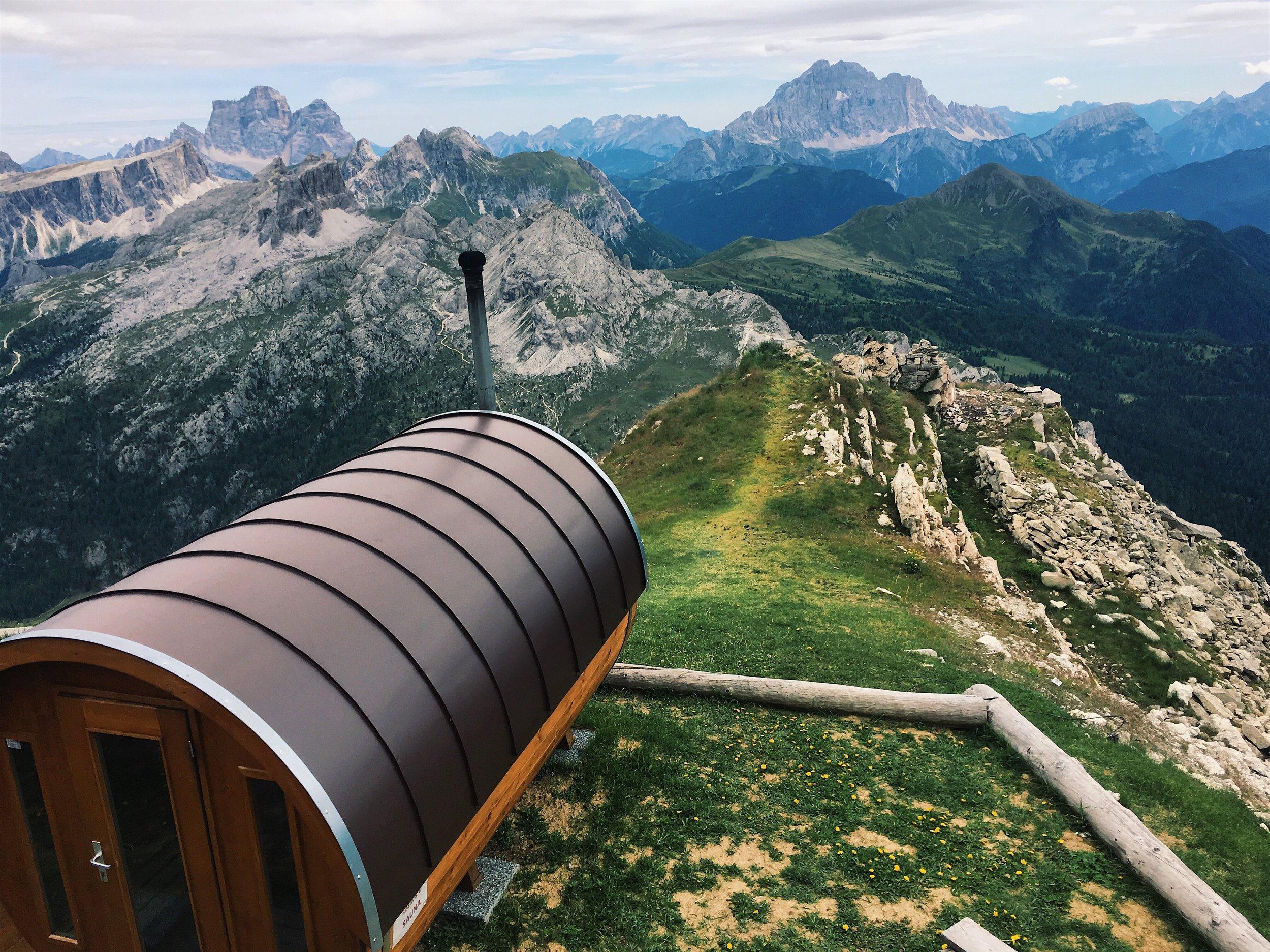 Enjoy the highest sauna in the Dolomites