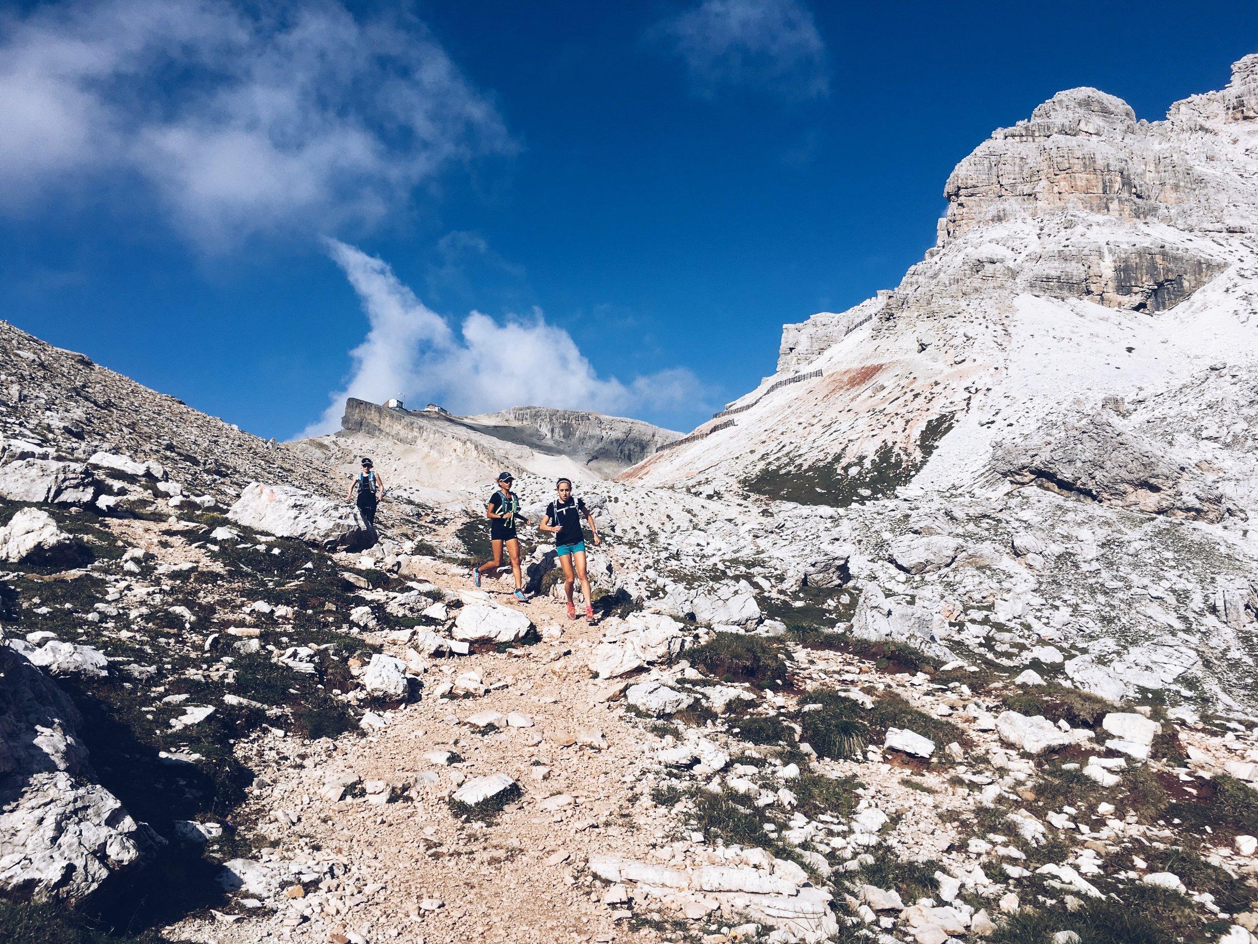 trail running cortina dolomites lagazuoi