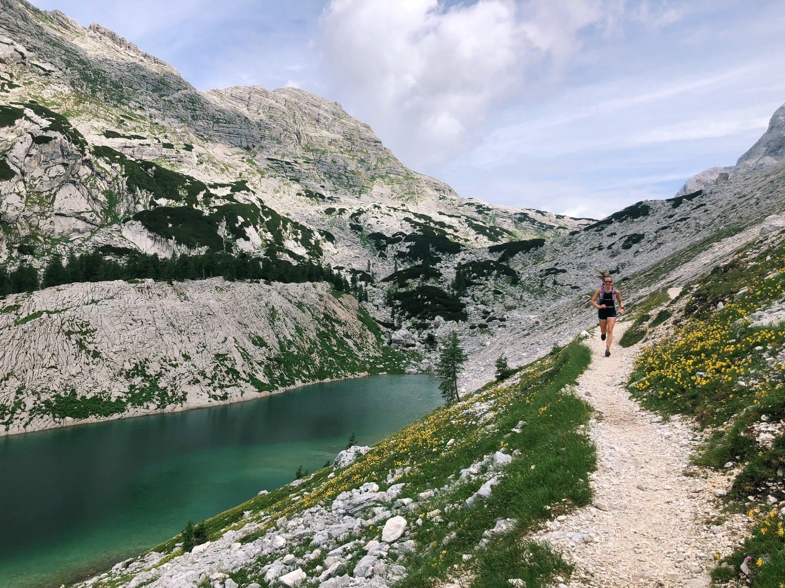 trail running slovenia julian alps dom planika to jezerih trivlavski