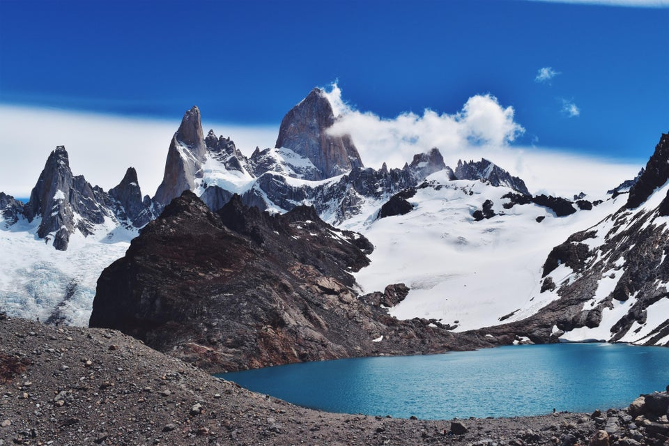 Enjoy a panorama of Monte Fitzroy on our guided trail runs
