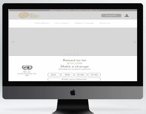 Global women's project - Website redesign