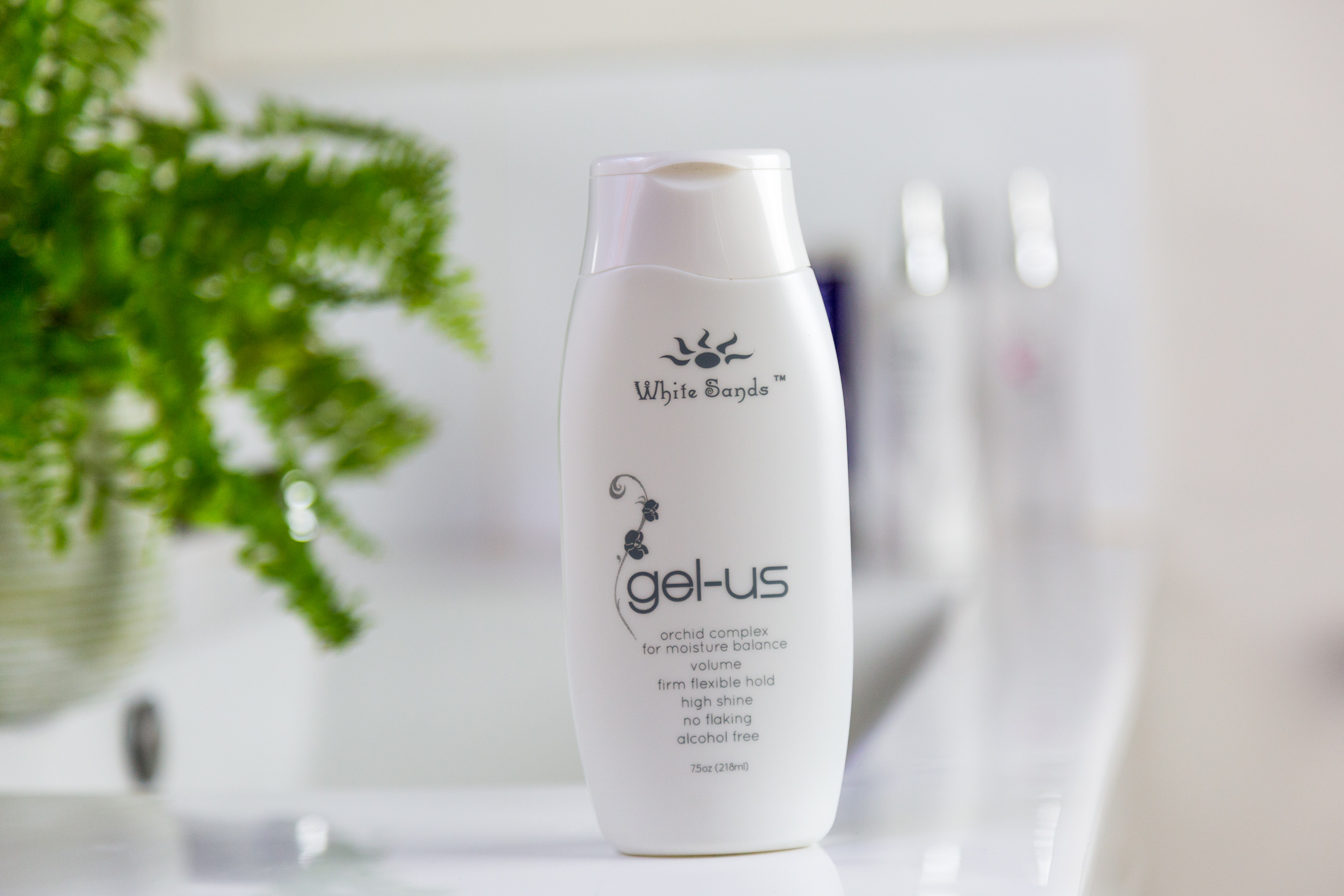 Gel-Us - Gel-Us allows 100% of the entire product to work synergistically in styling and conditioning to provide hydration and shine unlike any gel out there. With hair now in a perfect moisture balance after using Gel-Us, each cuticle layer is closed to eliminate frizz, improve texture, repel moisture and provide volume.222ml