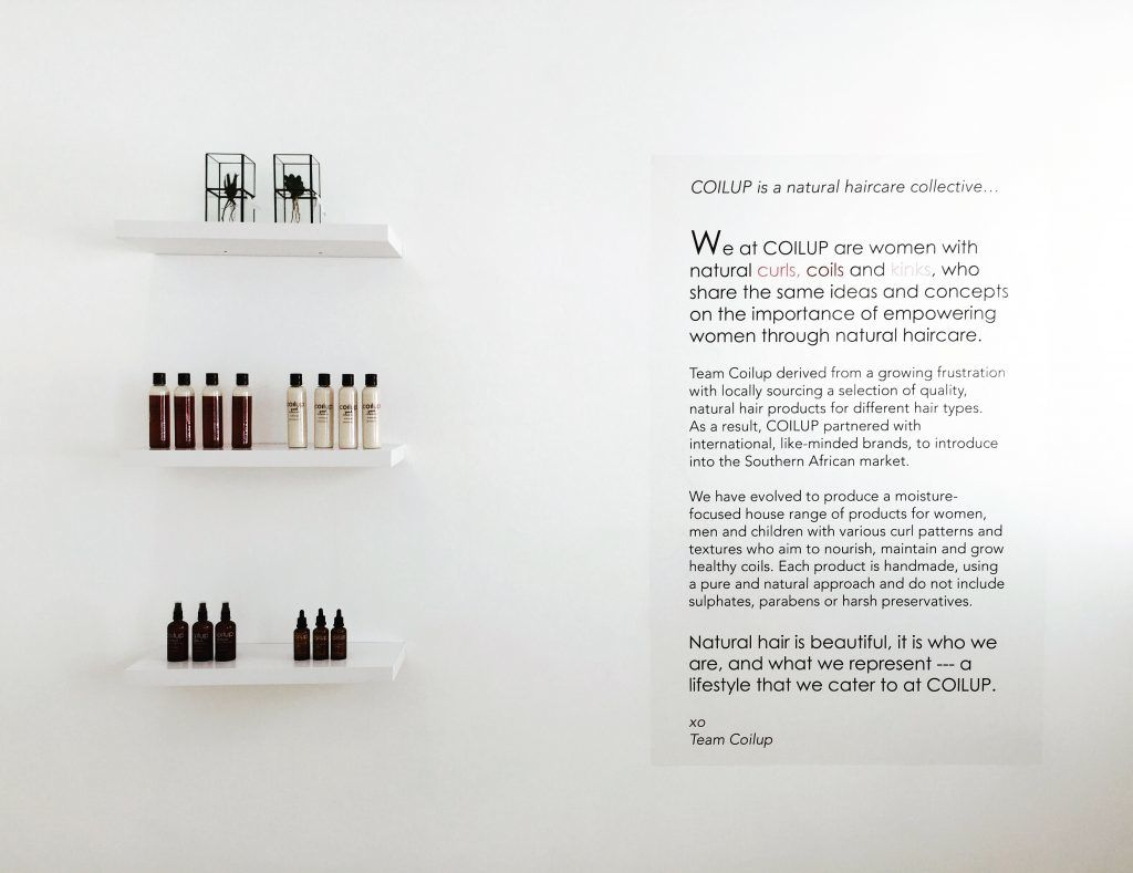 Display design for the launch a haircare brand
