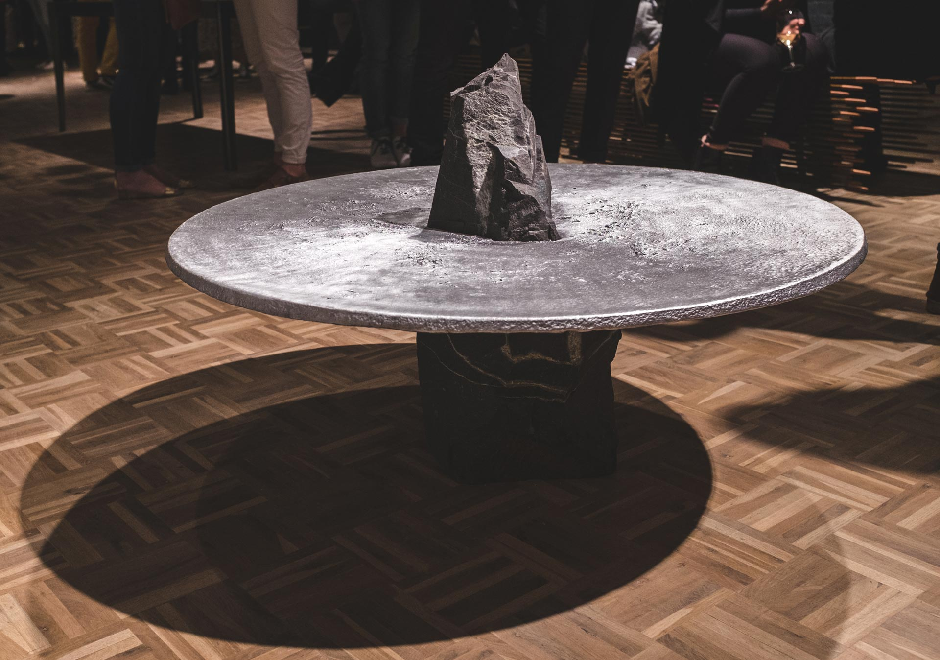 The completered  Lunar Table  in all its glory, on display at an exhibition. (Photo by Devin Paisley)