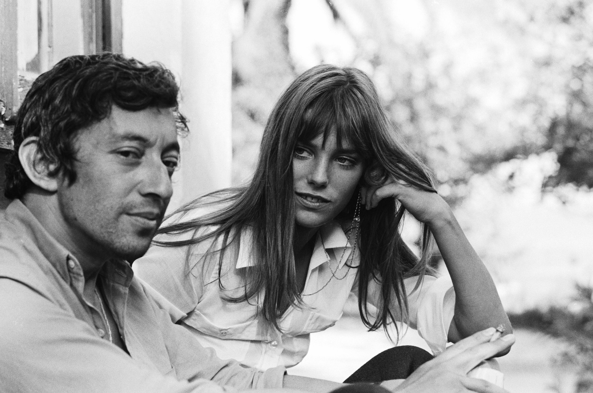 Image of Serge Gainsbourg and Jane Birkin via  @pinterest .