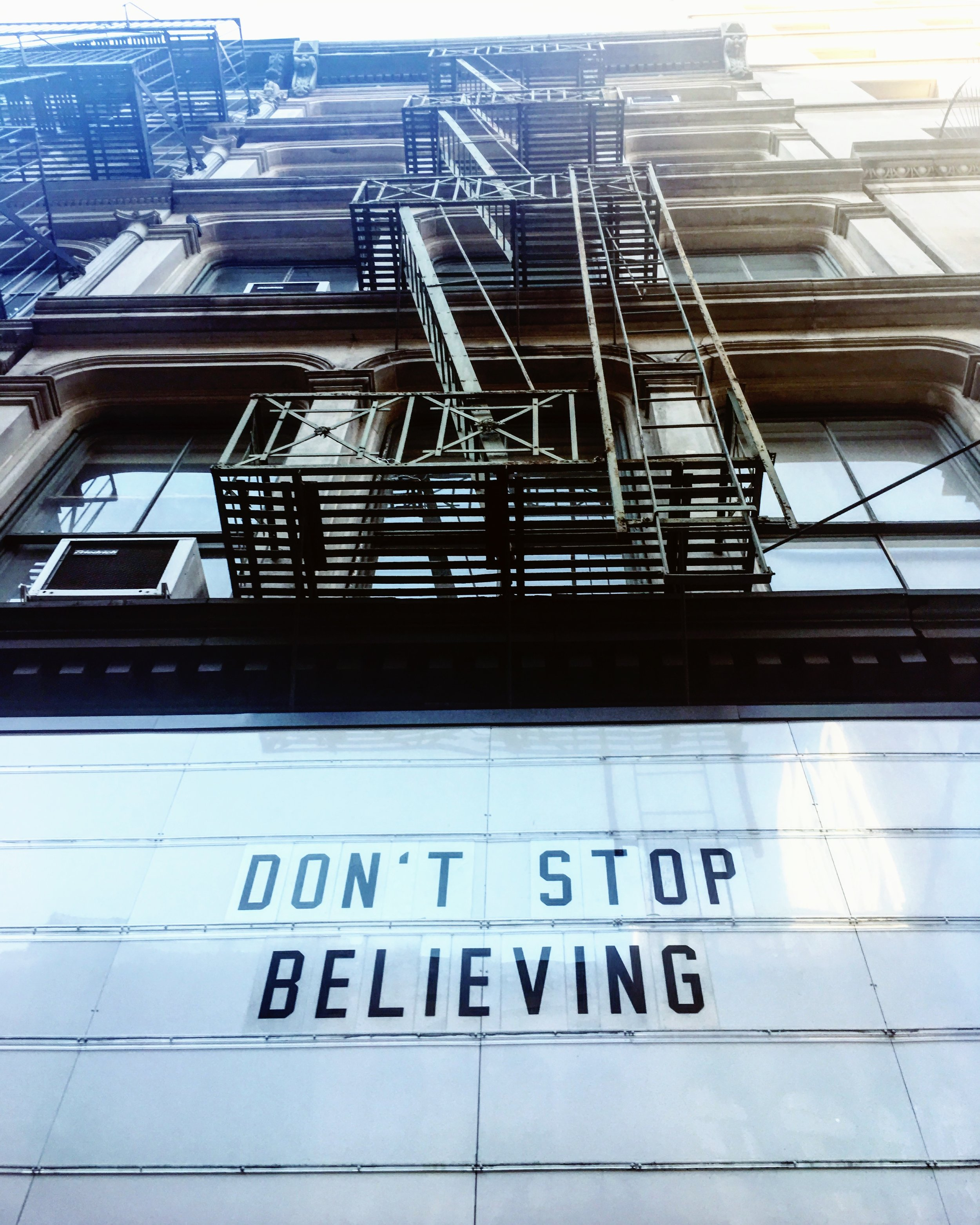 Another little reminder to always look up ... brought to you by the sidewalks of New York.