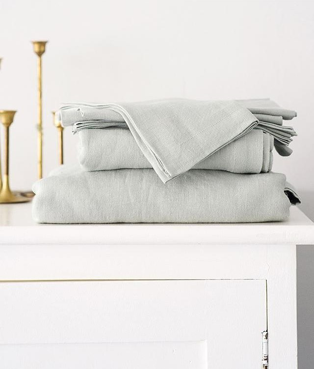 This month, take it easy and enjoy the simple things. Like fresh, crisp linen from  Mungo
