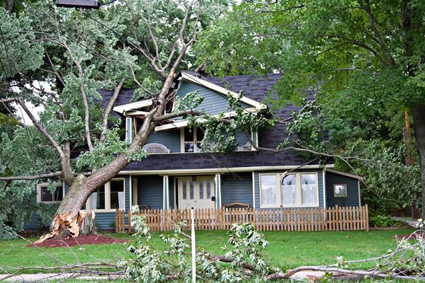 Westborough, ma area wind / hurricane damage insurance claim.
