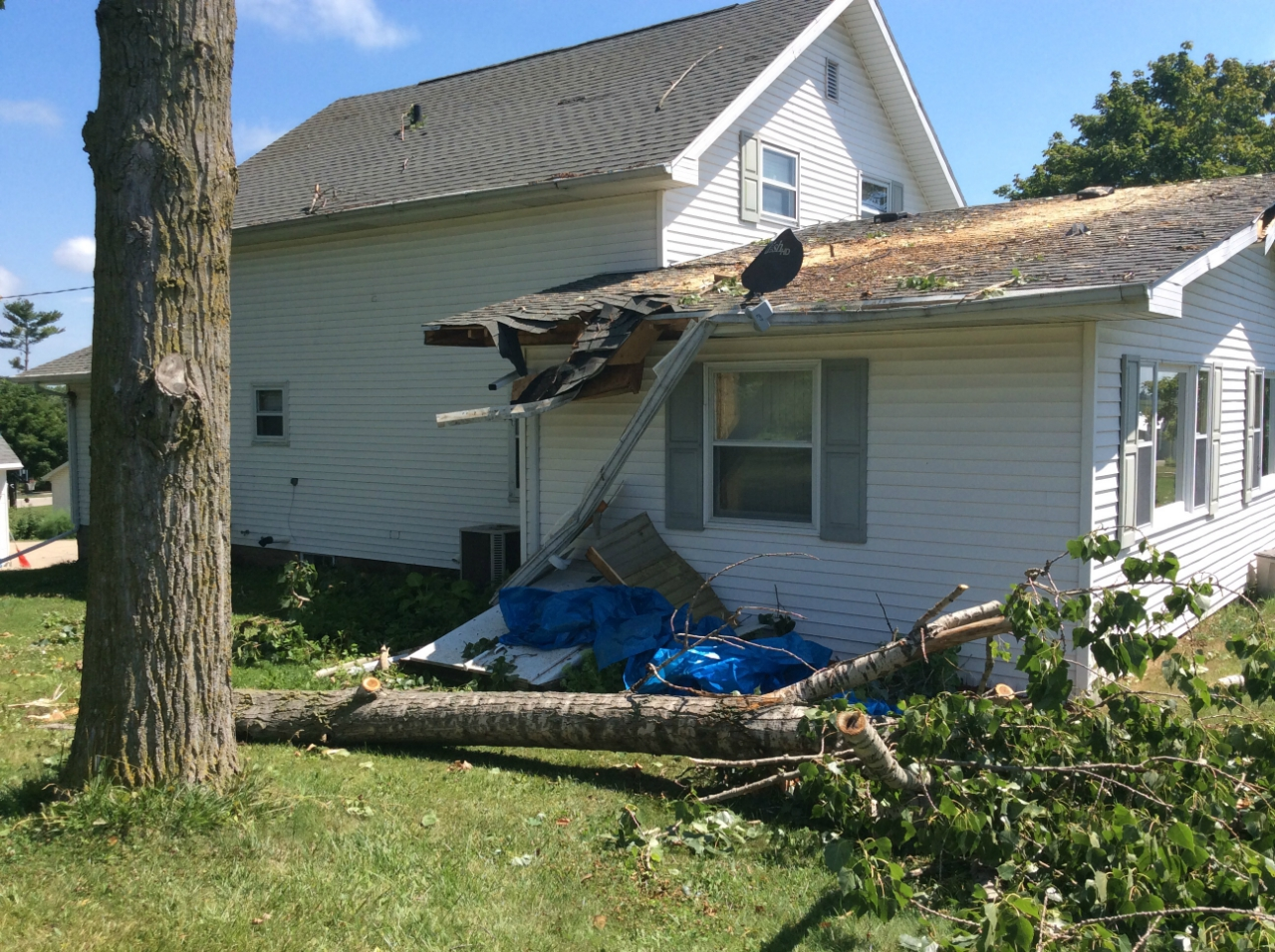 Princeton, ma area tree / wind damage insurance claim.