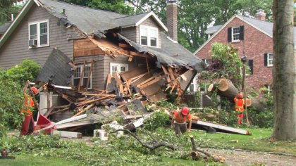 new Bedford, ma area major structural / wind damage insurance claim.