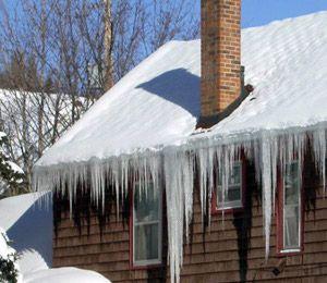 Merrimac, ma storm damage / ice dam / roof leak insurance claim.