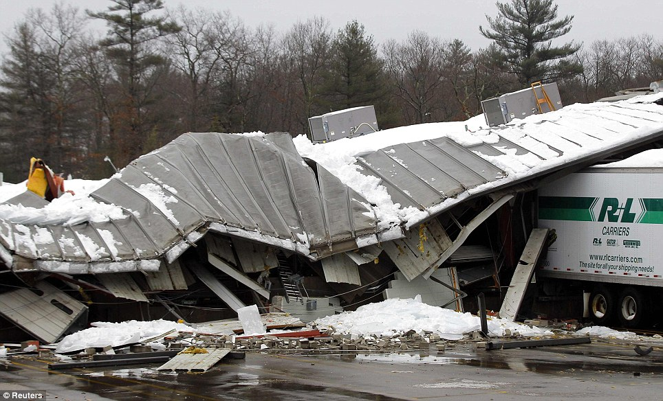 Recent Middletown, RI major winter stormstructural damage insurance claim.