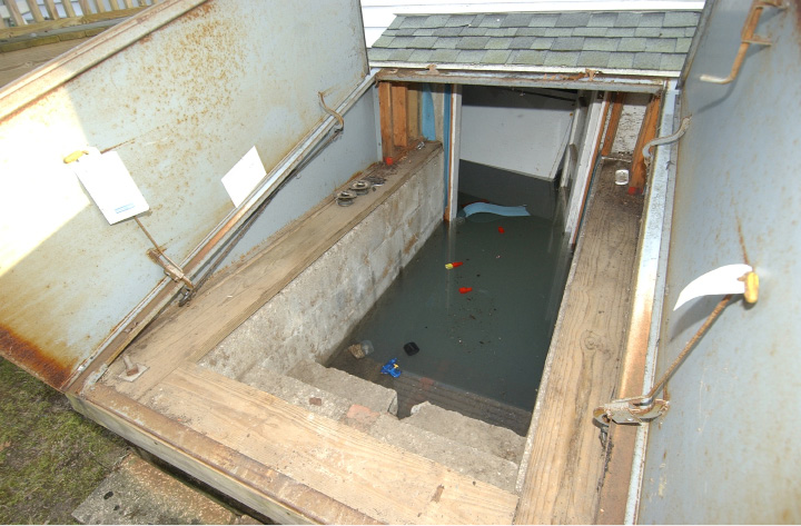 recent Westerly, RI major pipe burst / basement flooding Insurance claim.