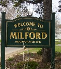 welcome to mildford, nh sign.