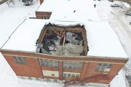 Recent Barrington RI major roof collapse claim