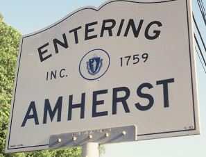 Amherst, ma welcome sign.