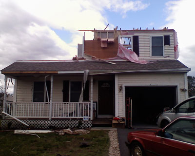 Recent Tolland CT roof/structural damage claim