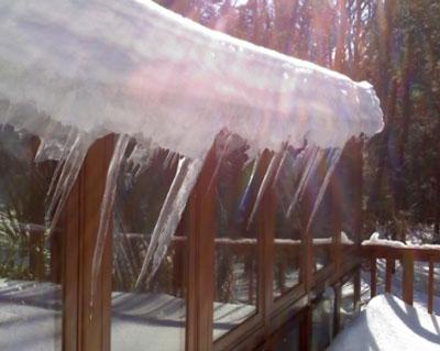 Recent Stafford Springs CT ice dam claim
