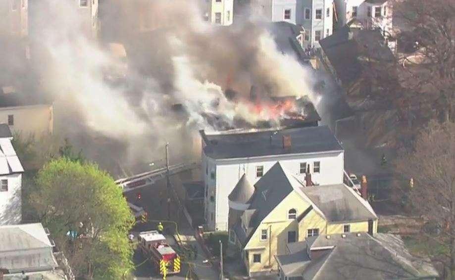 Chelsea, MA recent major fire insurance claim — 2 triple decker apartments.
