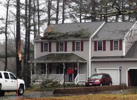 WAREHAM, MA ROOF DAMAGE AND FLOOD INSURANCE CLAIM.