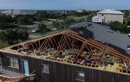 North MYrtle Beach, SC hurricane damage and business interruption insurance claim.