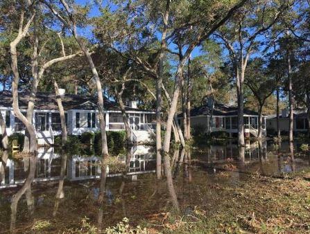 Daufuskie Island, SC hurricane damage insurance claim.