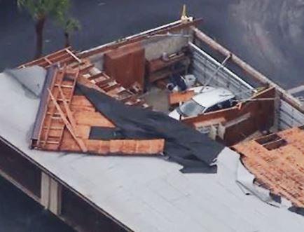Folly Beach, SC hurricane wind damage insurance claim.