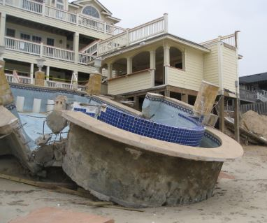 Kitty Hawk, NC commercial property damage insurance claim.