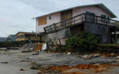 Nags Head, NC major hurricane damage insurance claim.