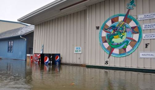Oriental, NC commercial flood and business interruption insurance claim.