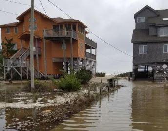 Hatteras Island / Buxton, NC hurricane and major flood damage insurance claim.