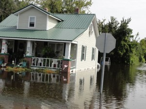 Morehead City, NC hurricane and major flood damage insurance claim.
