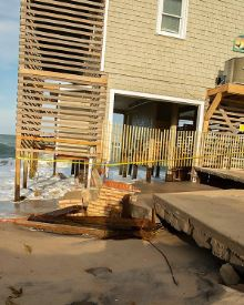 Rodanthe NC hurricane flood damage insurance claim.