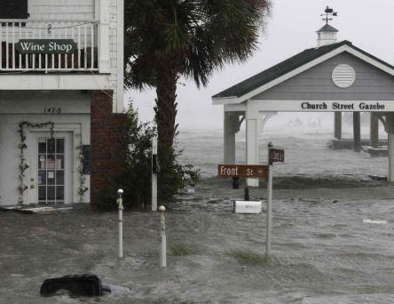 Swansboro, NC area hurricane flood damage insurance claim.