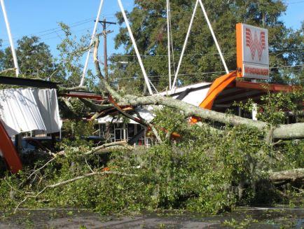 Pensacola, FL major storm structural damage insurance claim.