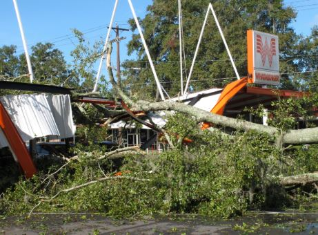 Tallahassee, FL wind and structural damage insurance claim.