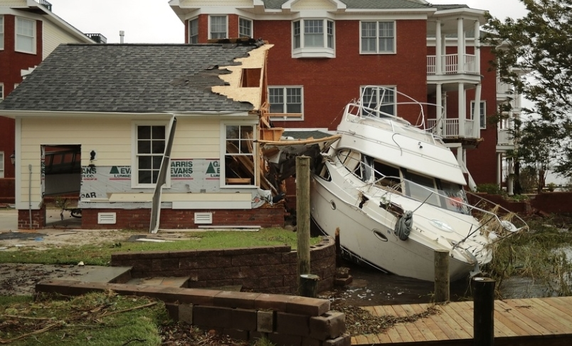 Kure Beach, NC major hurricane damage insurance claim.