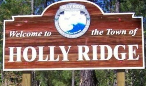 Holly Ridge, NC welcome sign.