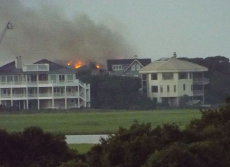 Figure Eight Island, NC major house fire insurance claim.