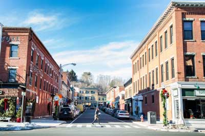 """great barrington ma downtown. In 2012,   Smithsonian  magazine  ranked Great Barrington #1 in its list of """"The 20 Best Small Towns in America""""."""