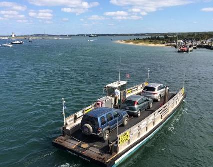 ferries run between edgartown and chappaquiddick.