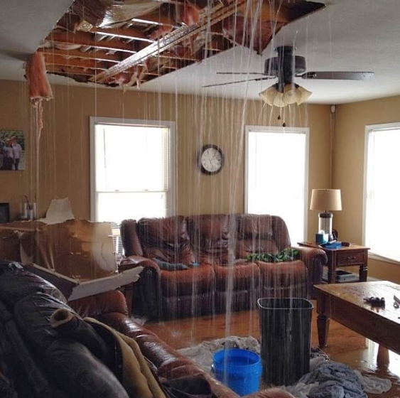 North canaan, ct pipe burst insurance claim.