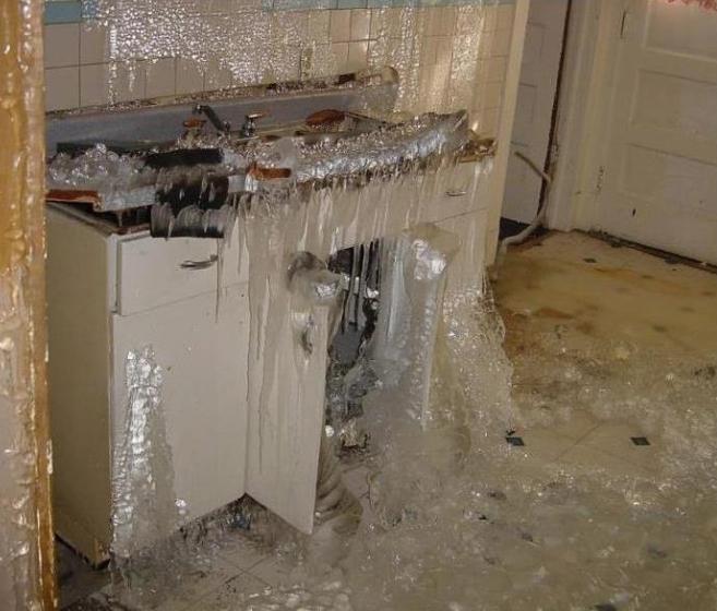 Granby CT pipe burst insurance claim.