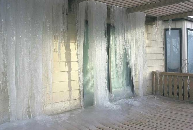 Salisbury, ct major ice dam water damage insurance claim.